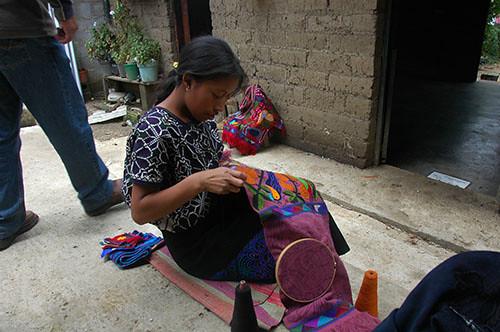 Zinacantan - 13 Woman Embroidering