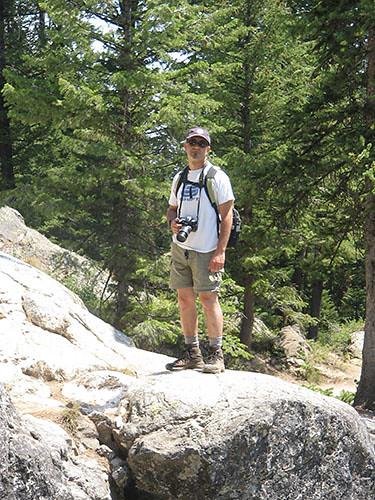 Grand Teton - Eitan Climbing to Inspiration Point