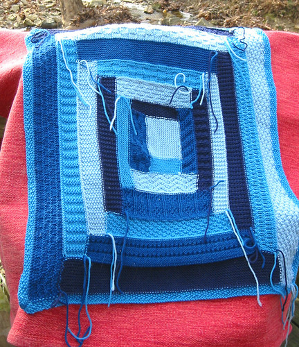 log cabin baby blanket flip side