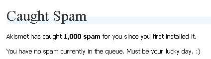 Spam since September 2006
