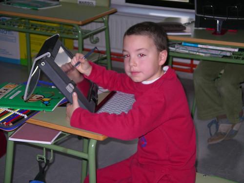 Amb 7 anys ja treballa amb el tabletPC