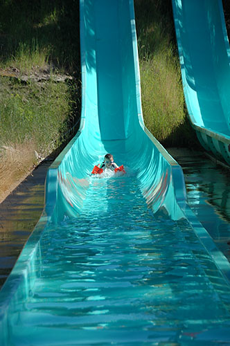 Big Sky Waterpark - Ohad in Roller Coaster Slide