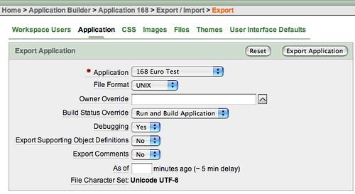 Application Export