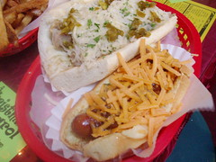 Brat, Dog and Fries