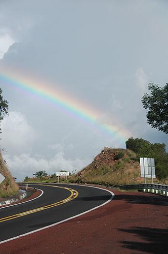 Taxco - 01 Rainbow on the way to Taxco