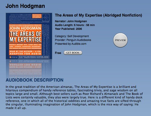 John Hodgman's The Areas of My Expertise (by Brian Sawyer)