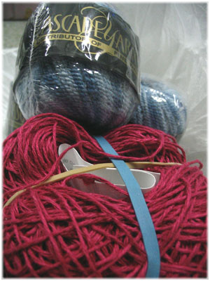 Sock yarn and pre-wound linen yarn!