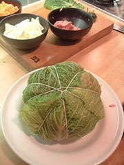 Stuffed cabbage before cooking