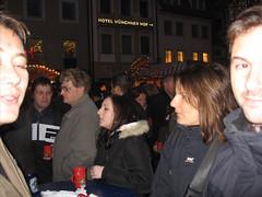 Peter, Jacky und Chris am Regensburger Christkindlmarkt