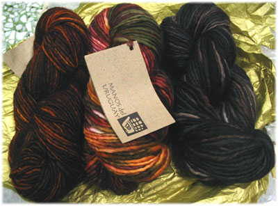The gorgeous Manos skeins!