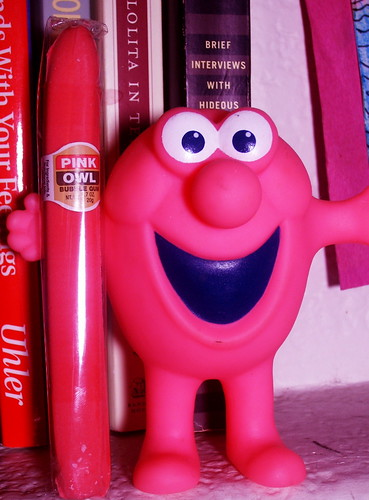 Mr. Bubble with a Pink Owl Bubblegum Cigar