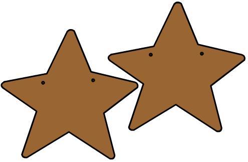 estrella 2 perforada