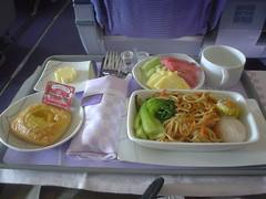 05.商務艙的機上餐點