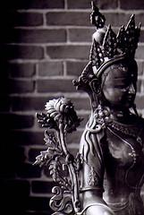 goddess with lotus