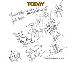 Today Show Guestbook Page from 09/26/2005