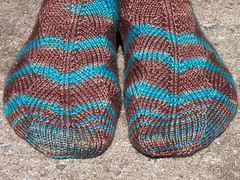 Here There Be Dragons Socks Toe Close-Up