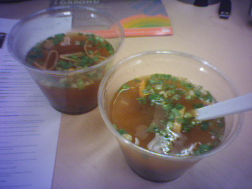 Miso soup in the office