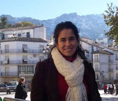Wendy en la Plaza del Huevo