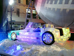 Detroit Superbowl Ice Sculpture