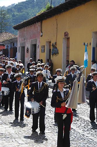 La Antigua  - 02 School Marching band