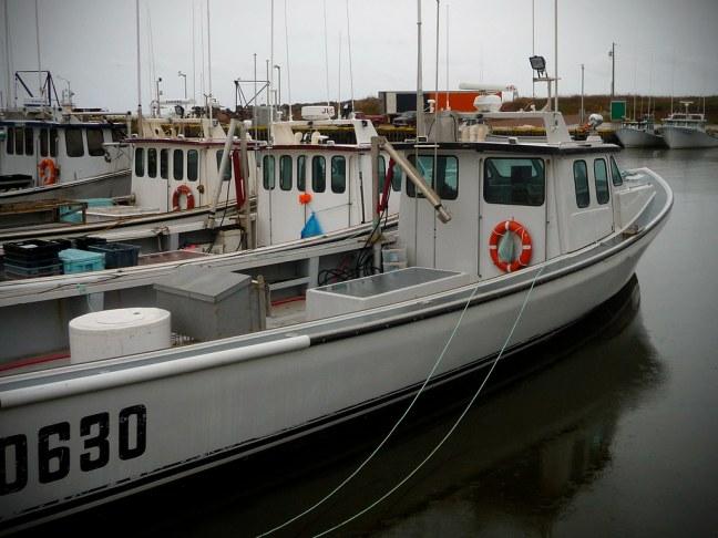 Fishing boats near North Cape