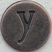Copper Lowercase Letter y