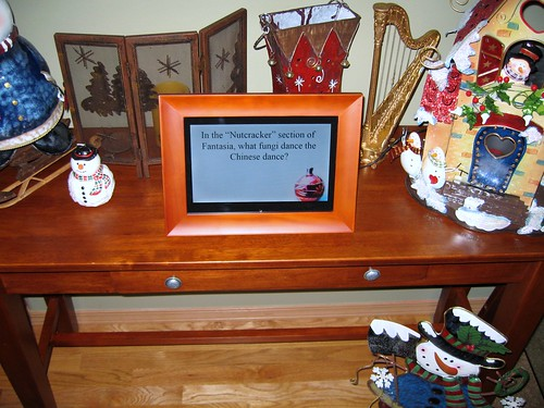 Holiday Trivia on Digital Picture Frame
