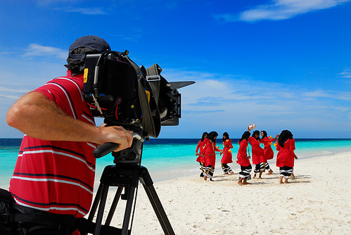cameraman beach
