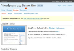 WordPress 2.5 Design Screen