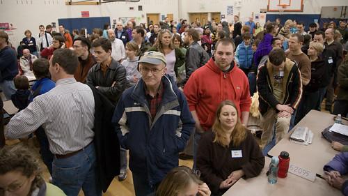 Crowded gymnasium