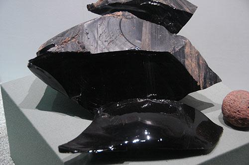 Teotihuacan - 08 - Museum Obsidian Chunk