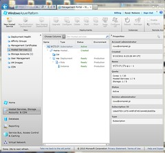 Hosted Service on Windows Azure Management Portal