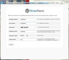 Settings database for WordPress