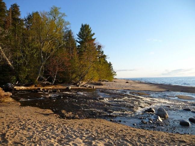 Hurricane River Meets Lake Superior