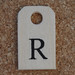 Wooden Tag R