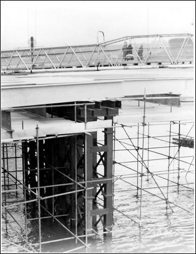 Bideford Bridge repairs (1968)