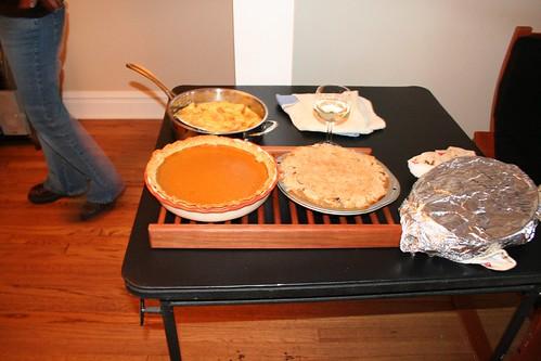 Pies and cornbread souffle (by Matt Stratton)