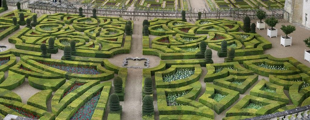 Chateau de Villandry garden Autostitch