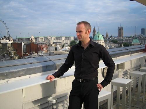 Me, overlooking Trafalgar Square, Aug 2005