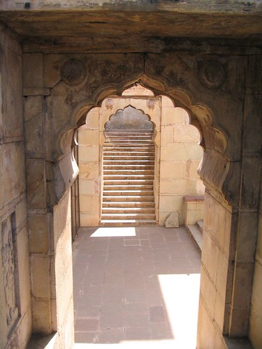 Down to the stepwell