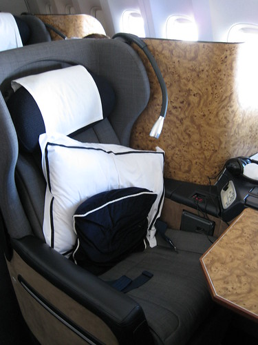 First class seat