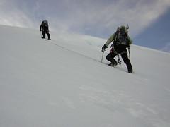 Climbing cayambe, Ecuador