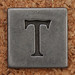Pewter Uppercase Letter T