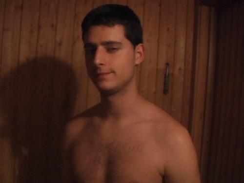 Raul en la sauna