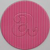 card disc with push out letter a