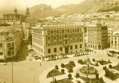 Antigua Plaza de las Palmeras, Jaén en 1956