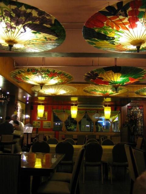 Umbrella Lamps at Khrua Thai