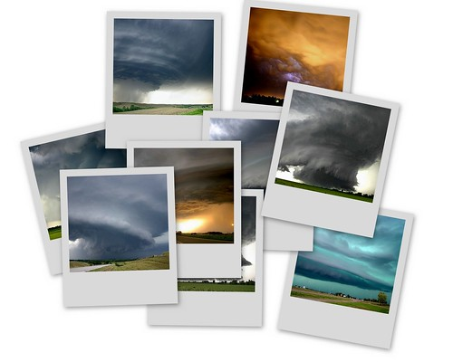 Collage de fotos de tormentas