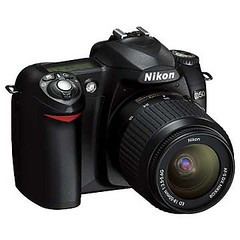Nikon D50 w/ 18-55mm kit lens. 3/4 view