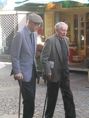 Image of two men walking
